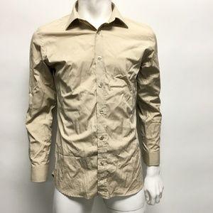 Burberry Beige Slim Button Down Shirt Size 15-38